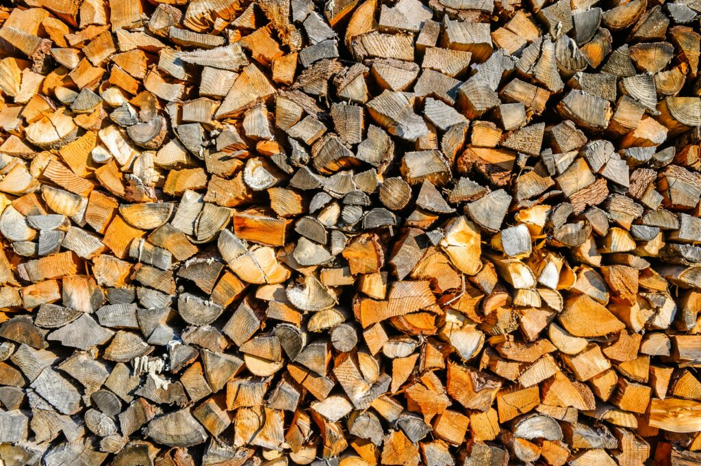 brown and white wooden logs